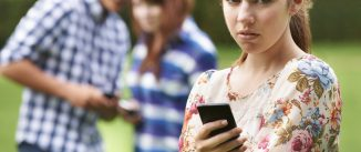 Teenage Girl Victim Of Bullying By Text Messaging